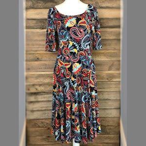 LuLaRoe bold paisley print dress